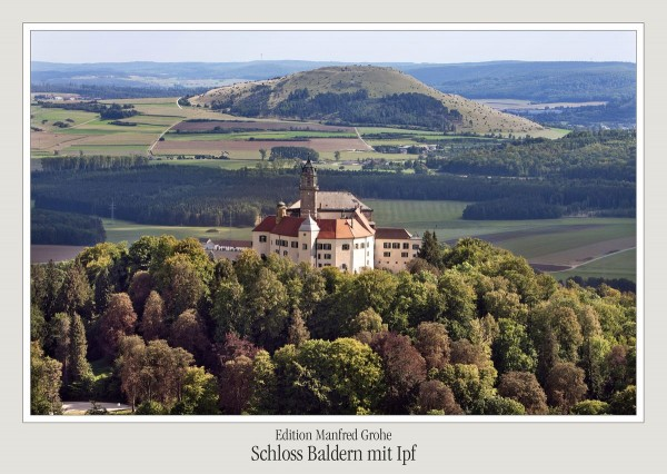 Postkarte - Ed. Manfred Grohe - Schloss Baldern mit Ipf