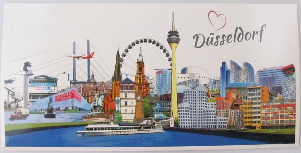 Panoramakarte - Düsseldorf