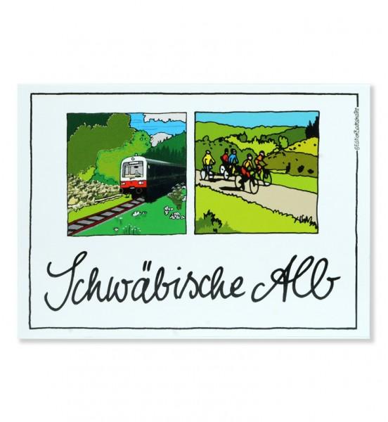 Postkarte - Schwäbische Alb - Unterwegs auf der Alb / Edition Bachschuster