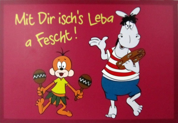 Postkarte - Mit Dir isch´s Leba a Fescht!