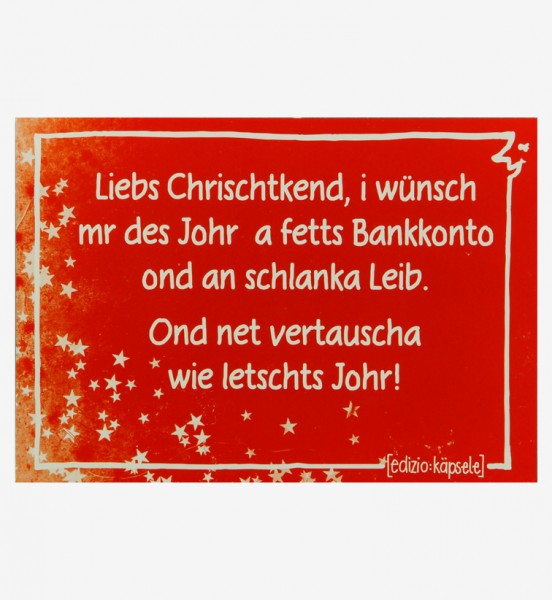 Postkarte - Liebs Chrischtkend ...