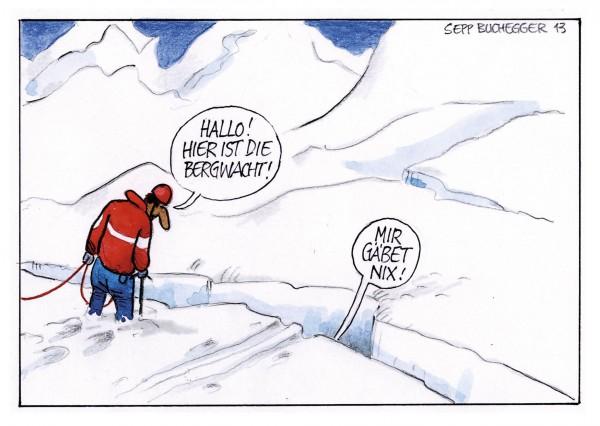 Postkarte - Ed. Sepp Buchegger - Hallo! Hier ist die Bergwacht