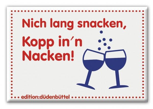 Magnet - Düdenbüttel - Nich lang snacken, Kopp in'n Nacken!