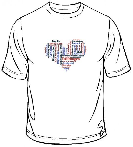 """T-Shirt """"Reutlinger WortWolke"""""""