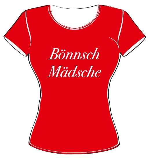 T-Shirt - Bönnsch Mädsche rot Größe XL