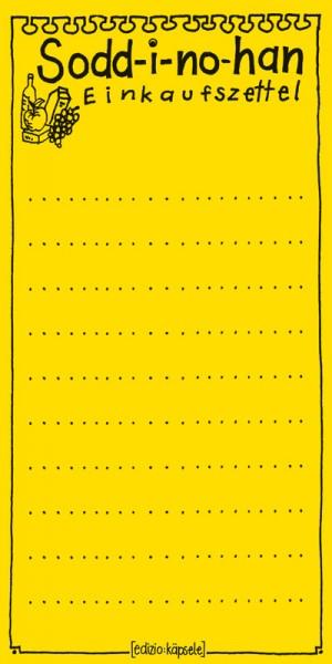 Block - Sodd - i - no - han Einkaufszettel