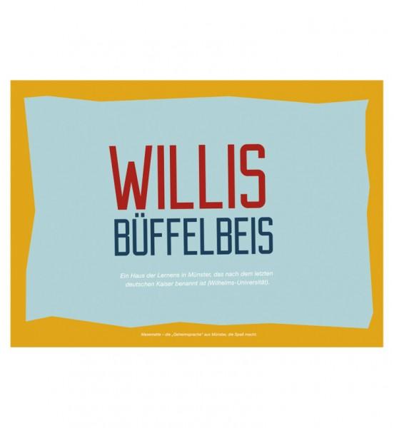 Postkarte - Willis Büffelbeis