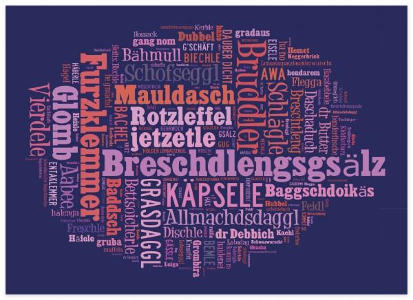 Schwäbische Wortwolke dunkel
