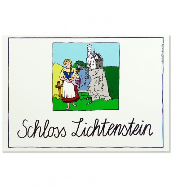 Postkarte - Schwäbische Alb - Schloss Lichtenstein / Edition Bachschuster