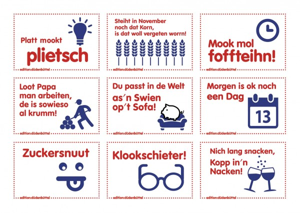 Sticker-Postkarte - 9 Motive