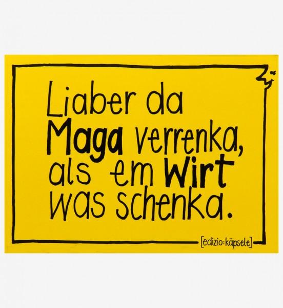 Postkarte - Liaber da Maga verrenka, ...