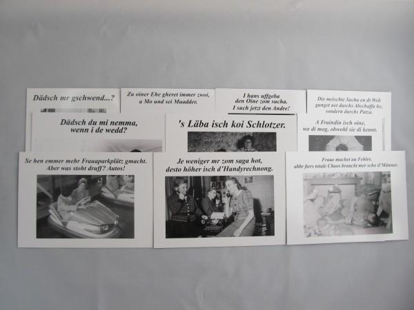 Postkarten - Set für Frauen mit 10 versch. Motiven
