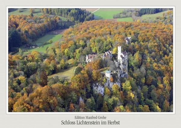 Postkarte - Ed. Manfred Grohe - Postkarte - Lichtenstein im Herbst