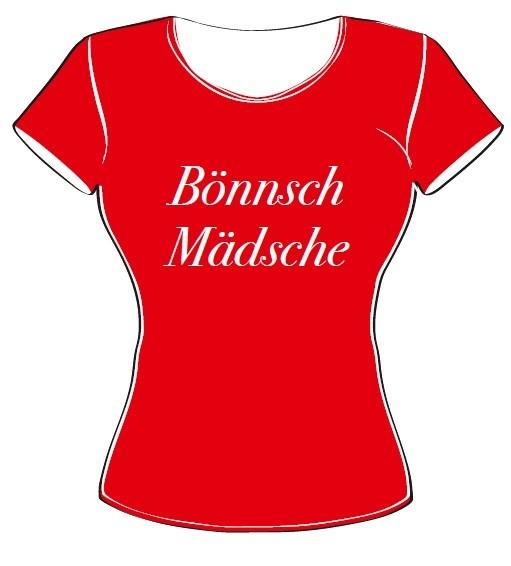 T-Shirt - Bönnsch Mädsche rot Größe S