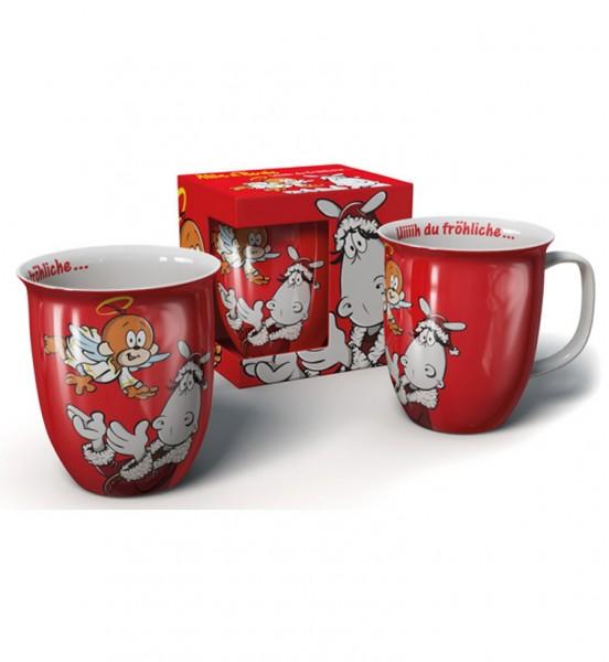 Weihnachtstasse rot - Uiiiih du fröhliche ...