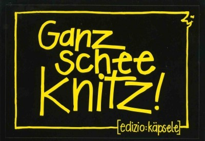 Stickerpostkarte - Ganz schee knitz!