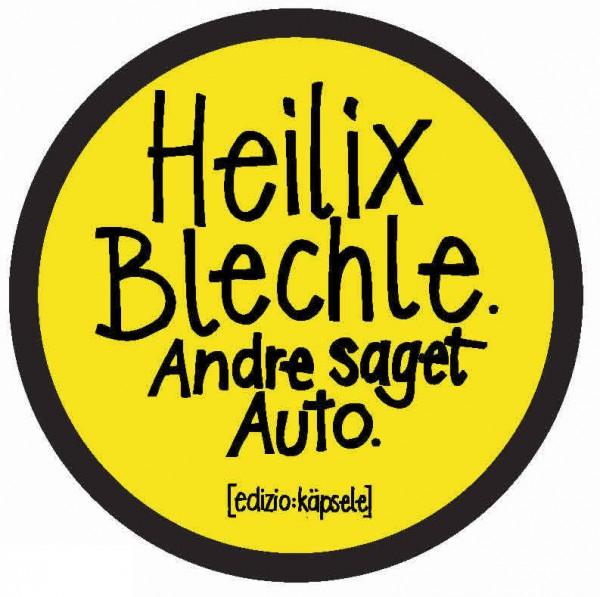 Autoaufkleber - Heilix Blechle. Andre saget Auto.