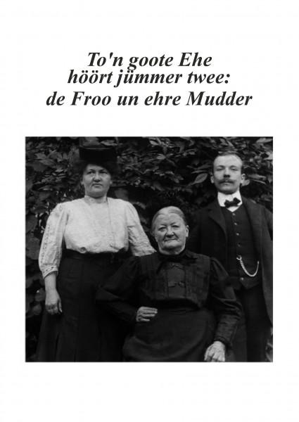 Postkarte - Düdenbüttel - To'n goote Ehe höört jümmer twee: de Froo un ehre Mudder