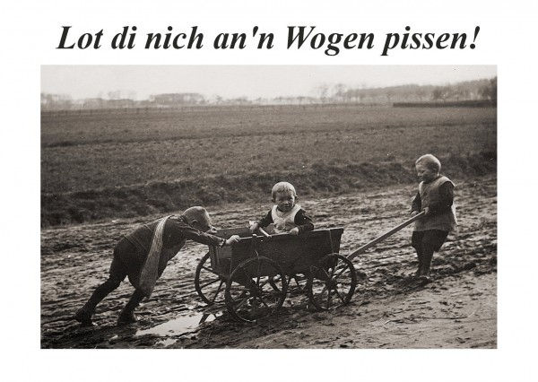 Postkarte - Düdenbüttel - Lot di nich an'n Wogen pissen!