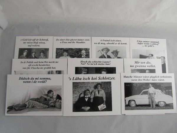 Postkarten - Set für Männer mit 10 versch. Motiven