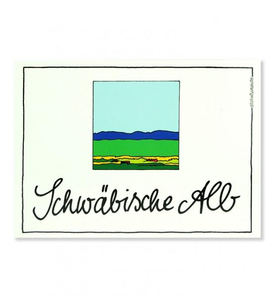 Postkarte - Schwäbische Alb - Blaue Mauer / Edition Bachschuster