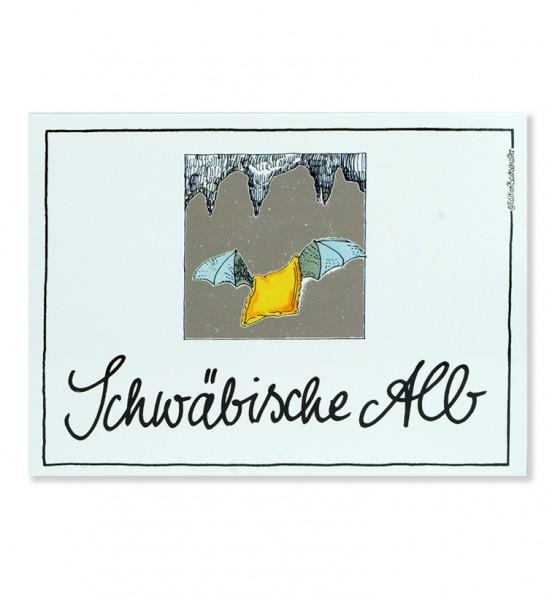 Postkarte - Schwäbische Alb - Höhlen Maultasche / Edition Bachschuster