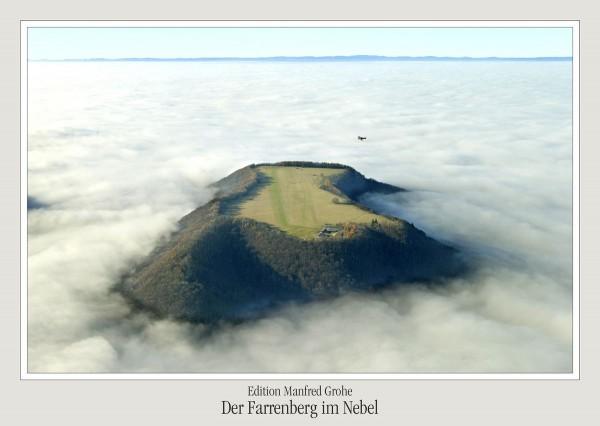 Postkarte - Ed. Manfred Grohe - Der Farrenberg im Nebel
