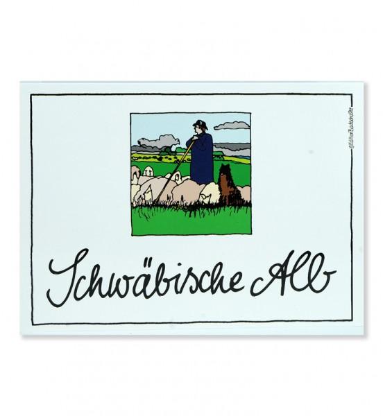 Postkarte - Schwäbische Alb - Schäfer / Edition Bachschuster