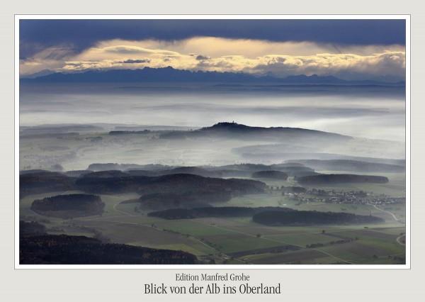 Postkarte - Ed. Manfred Grohe - Blick von der Alb ins Oberland
