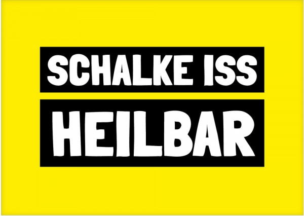 Postkarte - SCHALKE ISS HEILBAR