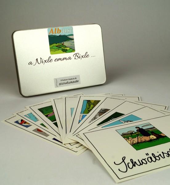A Nixele emma Bixle.... - 10 Alblust Postkarten in der Dose / Edition Bachschuster