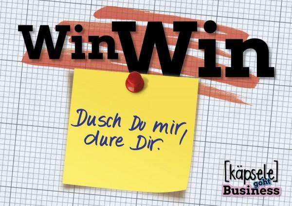 Postkarte - Win Win - Dusch Du mir, dure Dir!