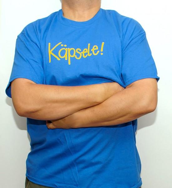 T-Shirt - blau - Käpsele!