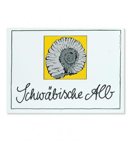 Postkarte - Schwäbische Alb - Ammonit / Edition Bachschuster