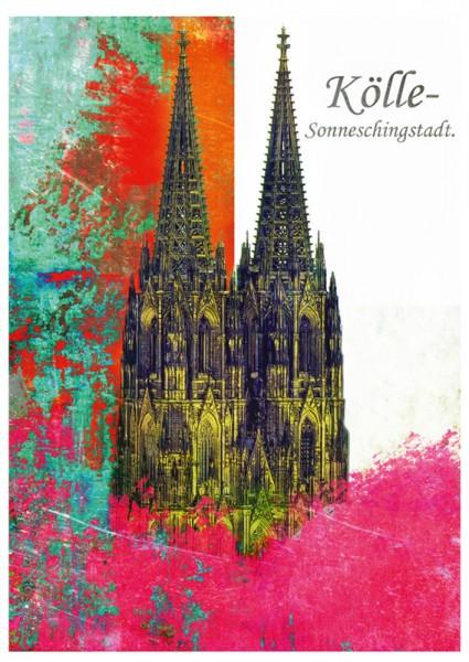 Grußkarte - Kölle - Sunneschingstadt.
