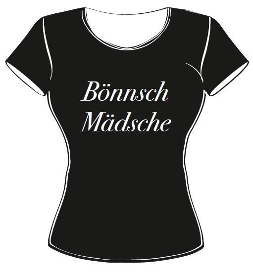 T-Shirt - Bönnsch Mädsche schwarz Größe L