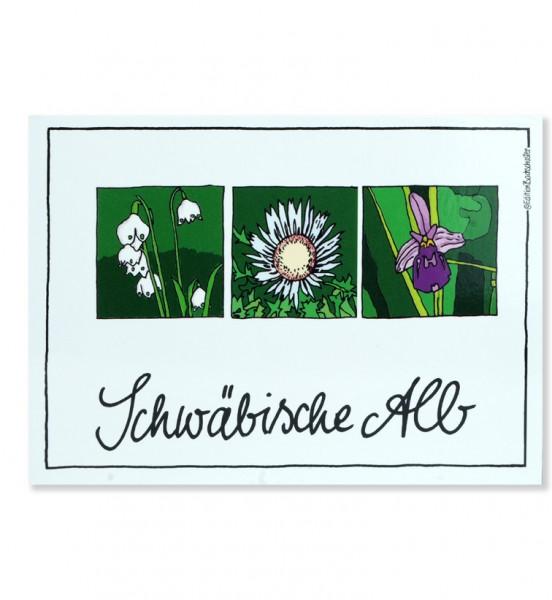 Postkarte - Schwäbische Alb - Albflora / Edition Bachschuster